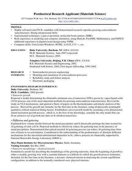 Ample dissertation curriculum vitae