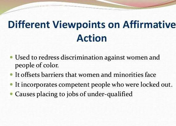 thesis statement on affirmative action Affirmative action thesis: although many people believe that affirmative action is a form of racism, it is actually used to help minorities find employment in an.