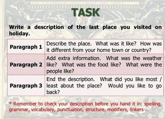 examples of descriptive essays about a place