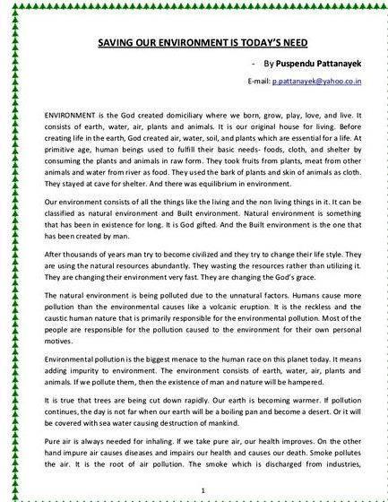 Short Essay on Public Environmental Awareness