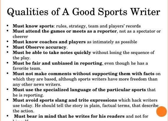 Career options in sports journalism