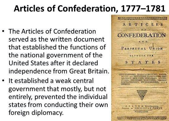 dbq essay articles of confederation