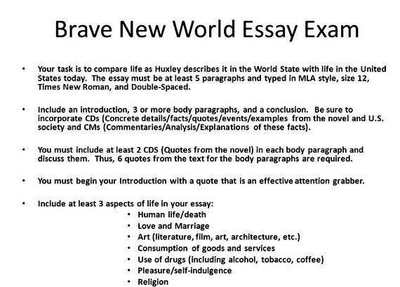 distortion in brave new world essay In brave new world, huxley exaggerates the fact that a world that strives for stability must eliminate individualism and relationships one major distortion in brave new world is the prevention of individualism.