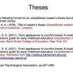 apa dissertation citation 6th