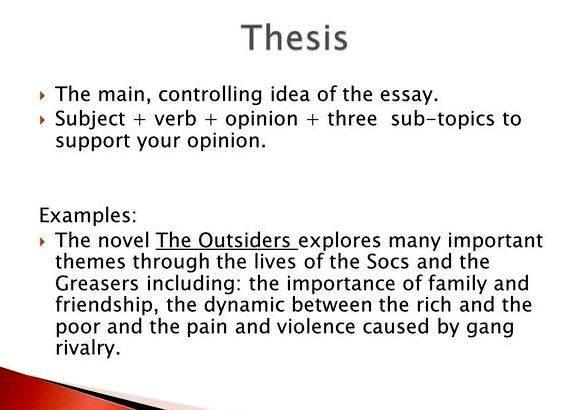 Controlling idea vs thesis proposal for students who choose to