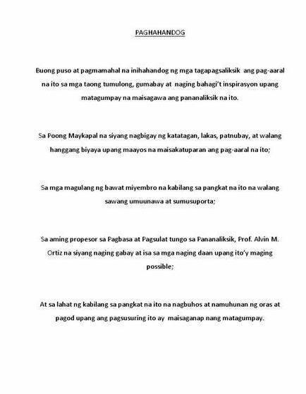 Dahon ng pasasalamat thesis writing maging bukas