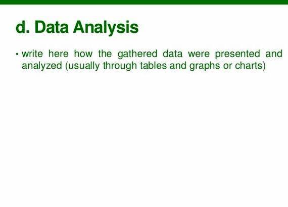 Data analysis chapter in thesis