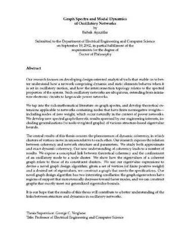 Abstract dissertation
