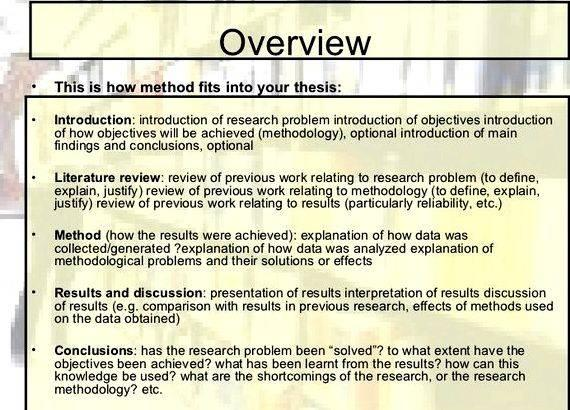 method of thesis How to write a dissertation or a thesis is a hypothesis or the scientific method means starting with a hypothesis and then collecting evidence to support.