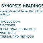 Synopsis Writing For Thesis