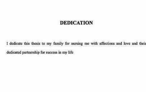 thesis dedication to family