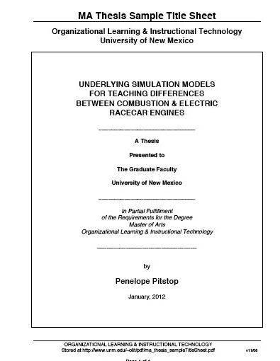 Business student graduate dissertation