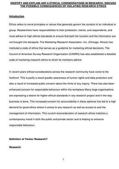 ethical issues essay