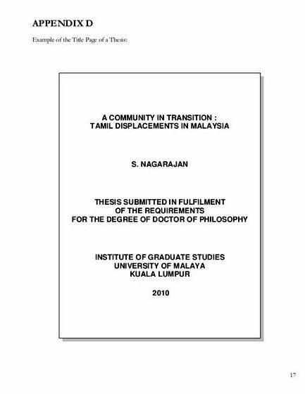 possible thesis titles