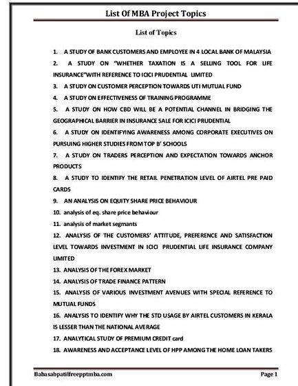 Dissertation topics for mca students