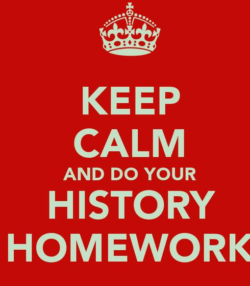 Do my homework history