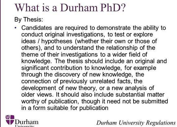 Durham phd thesis