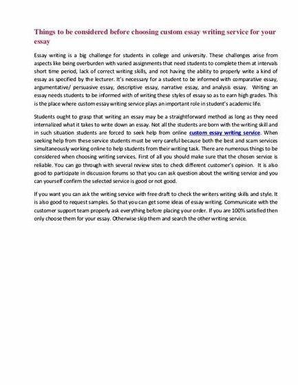 Notes essay writing