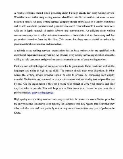 Academic essay writing law