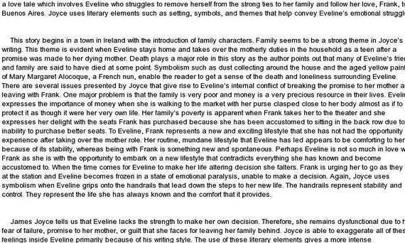 Analysis of Eveline Essay | blogger.com
