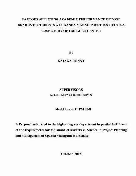 Proposal And Dissertation