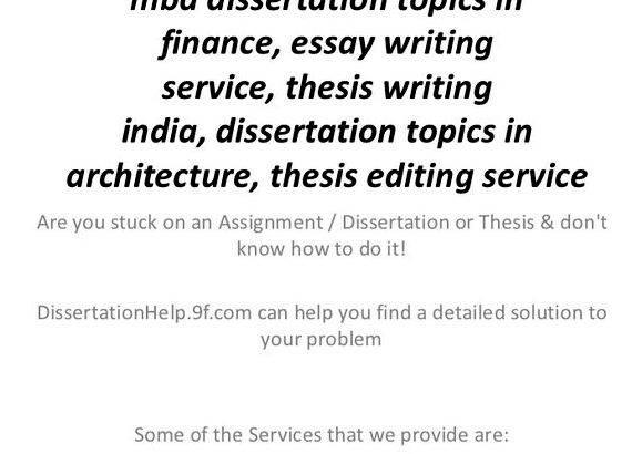Writing on Finance Thesis Topics and Brainstorming Finance