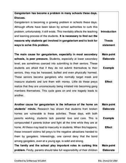 factors of gangsterism essays