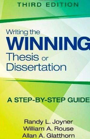 winning dissertations What is an exemplary dissertation in education research reflecting on the  award winners, five qualities stand out: originality, rigor, relevance, contribution to .