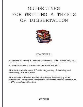 Doctoral thesis guidelines
