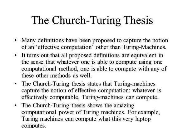 the church-turing thesis Church–turing thesisfrom wikipedia, the free encyclopedia church's thesis redirects here for the constructive mathematics as.