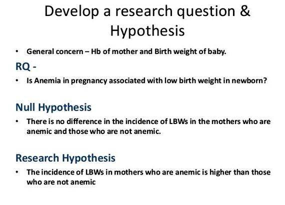 Where does the hypothesis go in a research paper