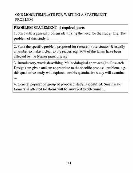 Identification of the problem in thesis proposal of any problem statement