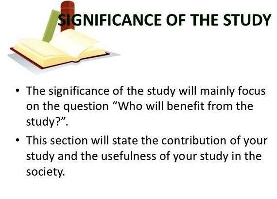 thesis proposal significance of the study Key elements of the research proposal significance of the investigation : to see the variety of ways in which the significance of a study can be.