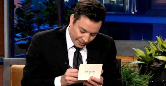 I Hope Democrats Get It Together Before >> Jimmy fallon writing thank you notes