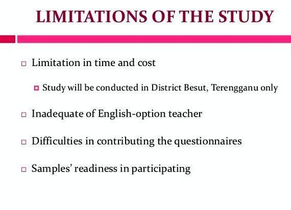 Limitation of the study in thesis