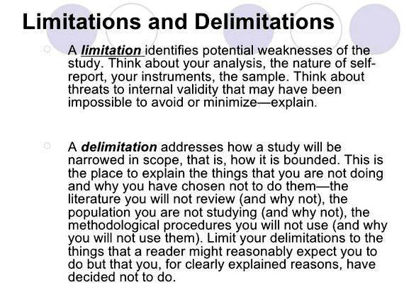 Limitations of study thesis writing generalisations about the population