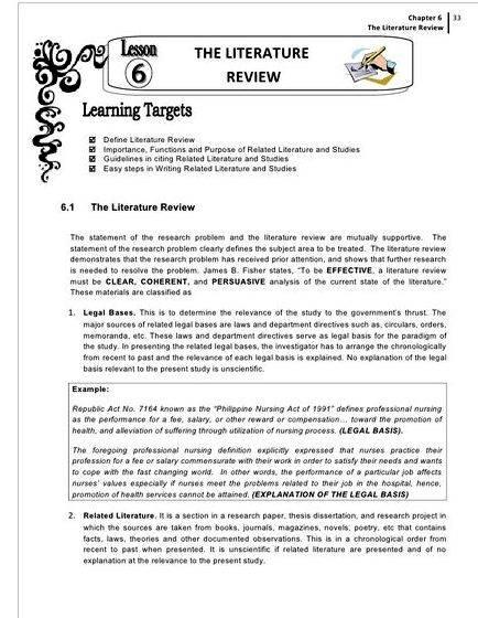 thesis proposal review