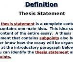 Literature thesis definition in writing