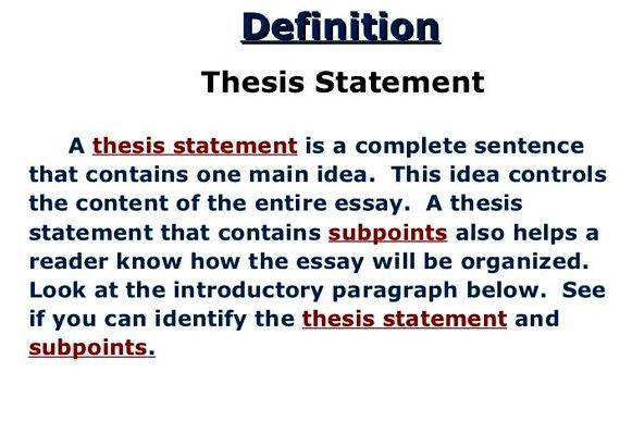 Literature thesis definition in writing 25 11