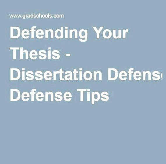 Master thesis presentation tips