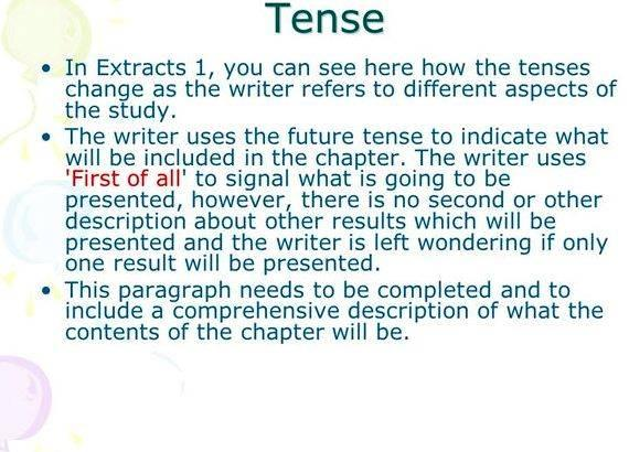 Phd thesis present or past tense
