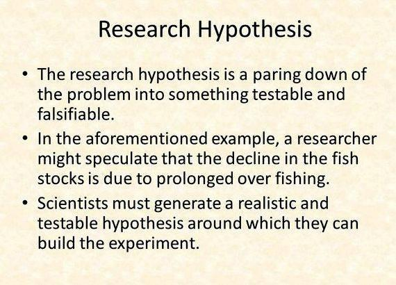 Meaning of hypothesis in research proposal Since the energy yield