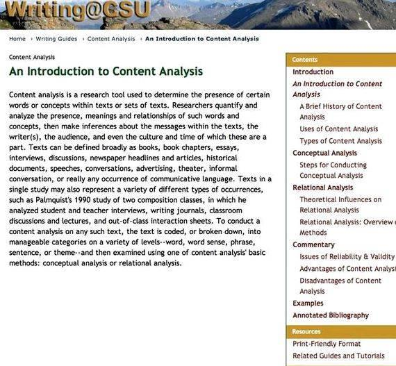 Media content analysis dissertation writing or data that