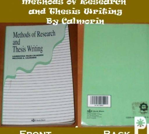 Methods of Research & Thesis Writing