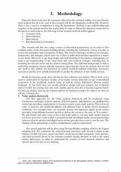 Dissertation and methodology