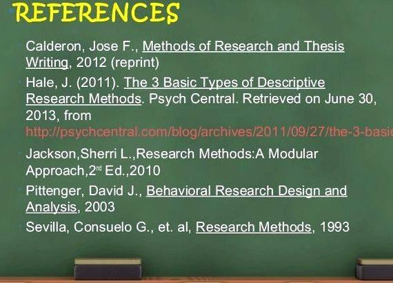 methods of research and thesis writing by calderon and gonzales Guidelines in writing the introduction methods of research and thesis writing by: jose f calderon, edd and expectacion c gonzales.