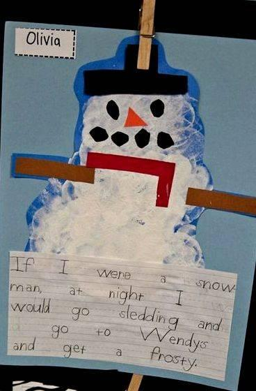 My snowman melted writing activity for middle school