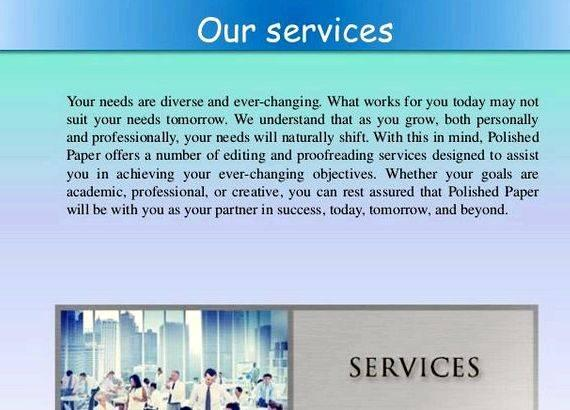 Editing and writing services academic paper