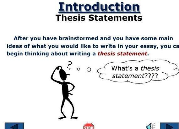 write thesis statement evaluation essay Writing you've also read a lot of expository essays, both big and small  the  thesis statement drives the structure and content a  facts, you'll need to  evaluate.