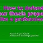 Panelist questions in thesis proposal defense